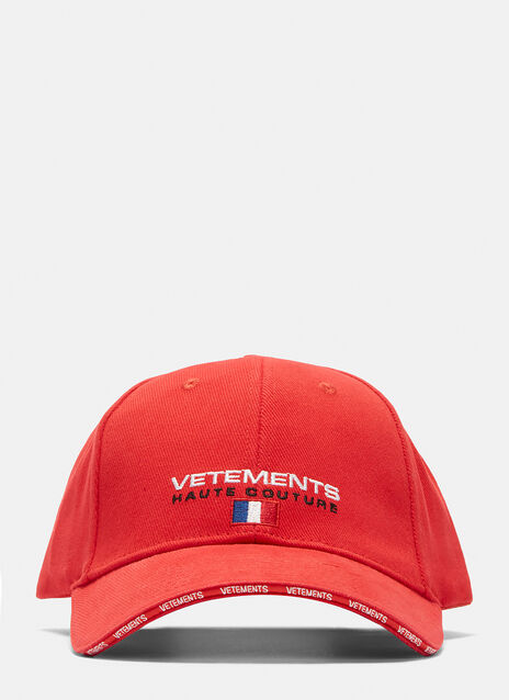 Vetements Haute Couture Logo Baseball Cap