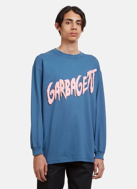 Garbage TV Logo Graphic Printed Long Sleeved T-shirt