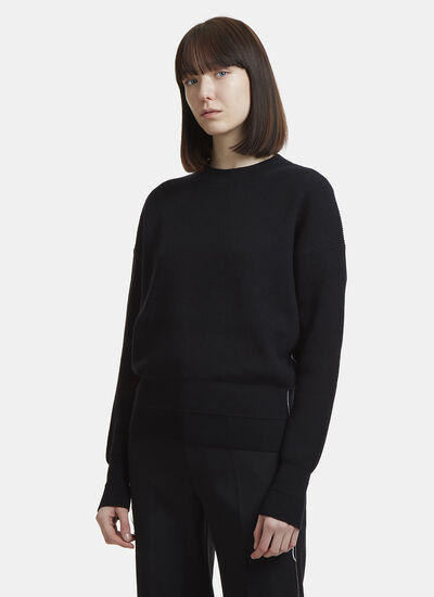 Helmut Lang Loose Stitch Ribbed Knit Sweater