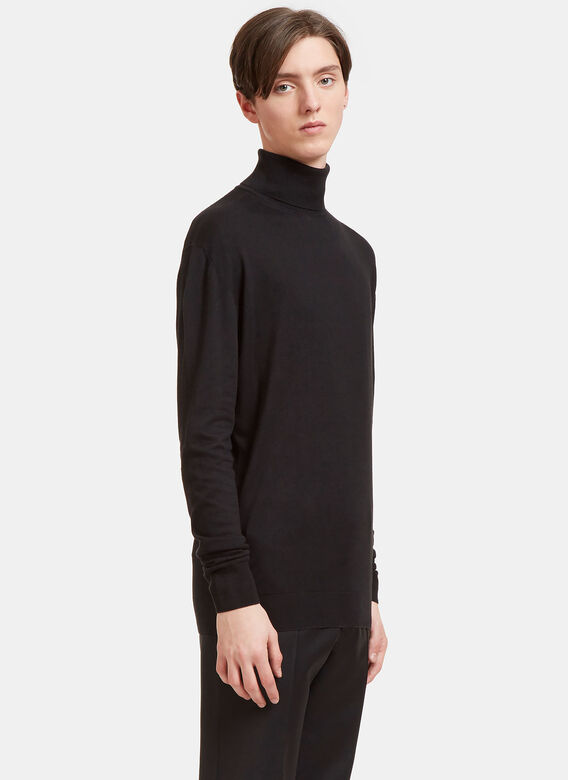 Aiezen AIEZEN Cashmere and Silk Roll Neck 3