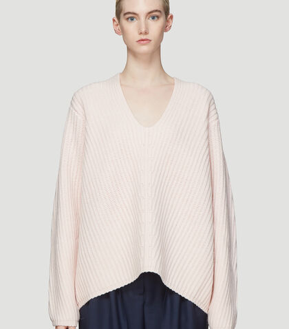 Deborah Oversized Ribbed Knit Sweater