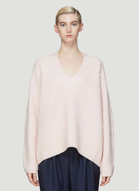 Acne Studios Deborah Oversized Ribbed Knit Sweater