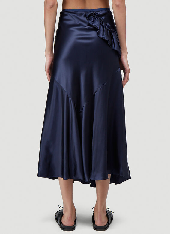 Simone Rocha BIAS SKIRT WITH TWISTED SIDE FRILL 4