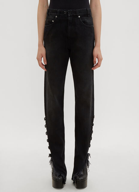 Olivier Theyskens Hook and Eye Straight Leg Jeans