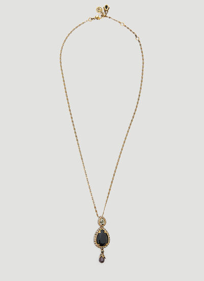 Alexander McQueen Long Jewelled Drop Necklace