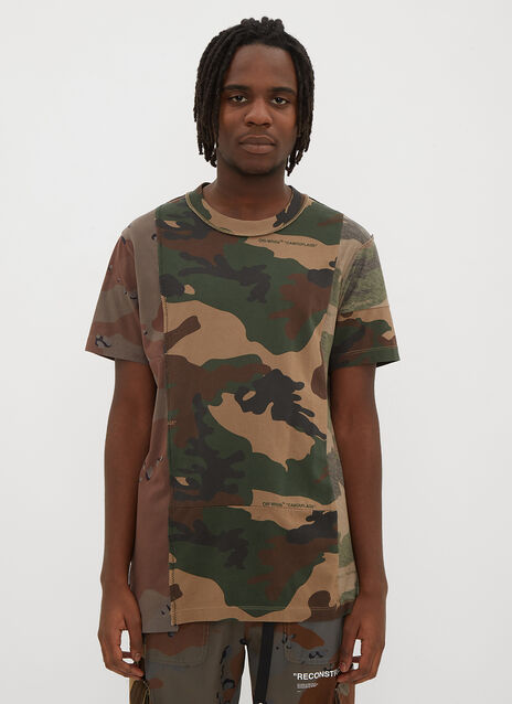 Off-White Reconstructed Camo Print T-Shirt