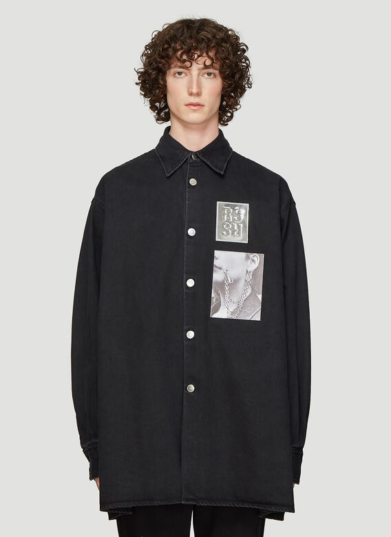 4d49ef03c1 Raf Simons Two Patch Big Fit Shirt in Black