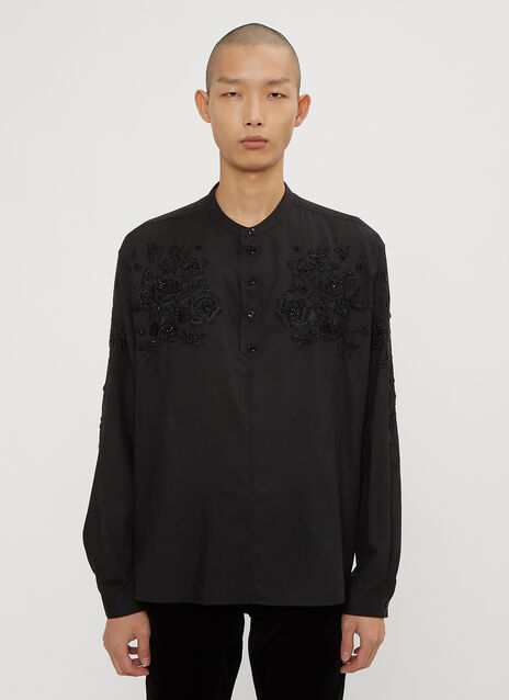 Saint Laurent Embroidered Tunic Shirt