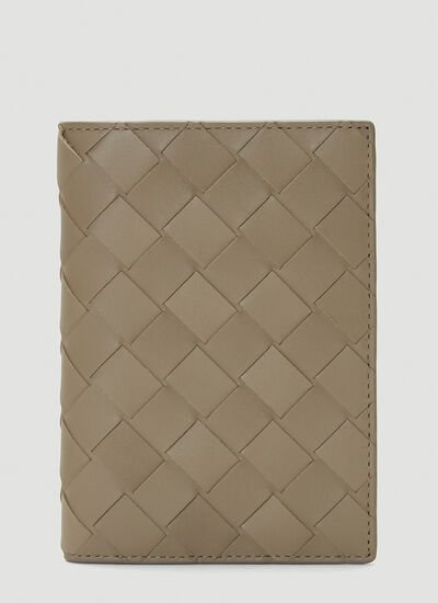 Bottega Veneta Woven Passport Case