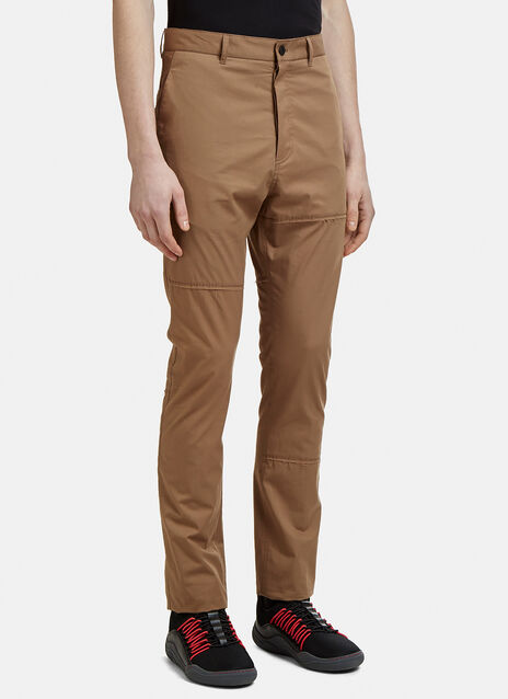 Lanvin Patchwork Slim-Fit Pants