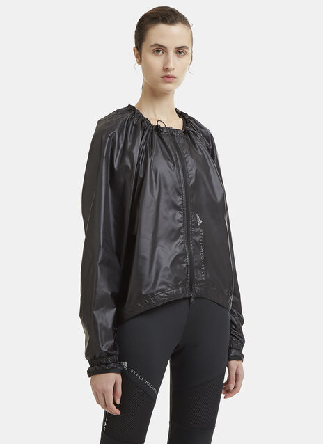 Adidas By Stella Mccartney Ruched Neck Running Jacket