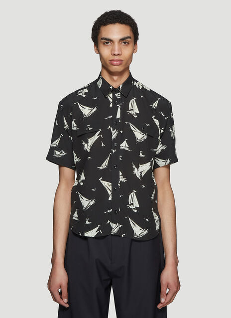 Saint laurent Sailing Boat Short Sleeve Shirt