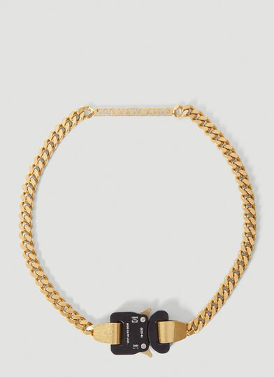 1017 ALYX 9SM Buckle Necklace in Gold