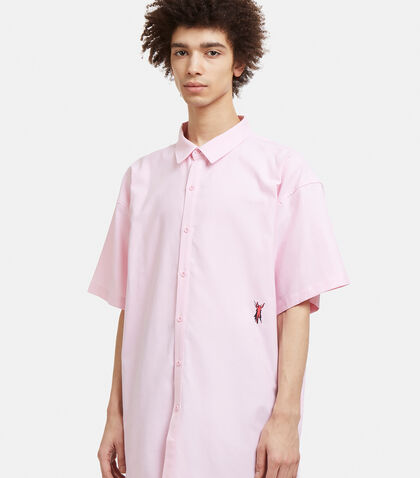 PERKS AND MINI P.A.M. Short-Sleeve Fitted Shirt - Pink