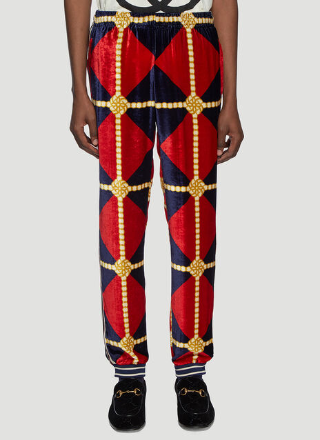 Gucci Rope Velour Track Pants