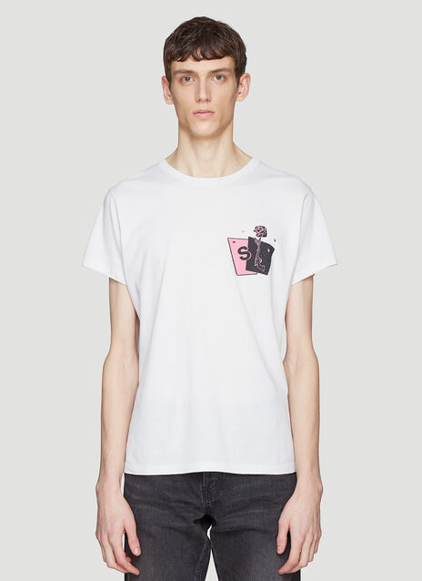 Saint laurent Card Print T-Shirt