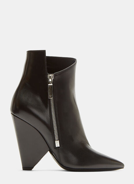 Saint Laurent Niki 105 Asymmetric Ankle Boots