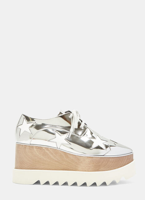 Stella McCartney Elyse Stars Metallic Platform Shoes