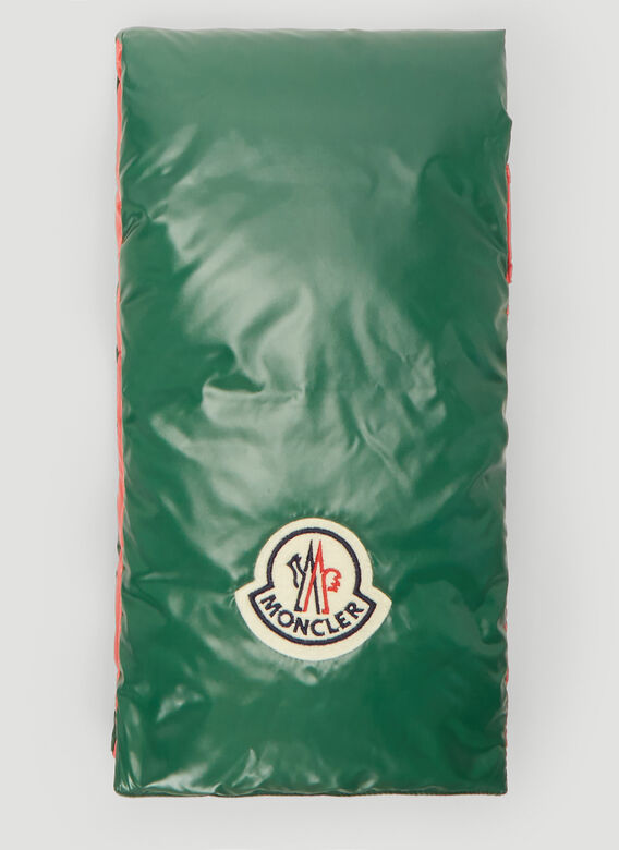 Moncler Padded Scarf in Green