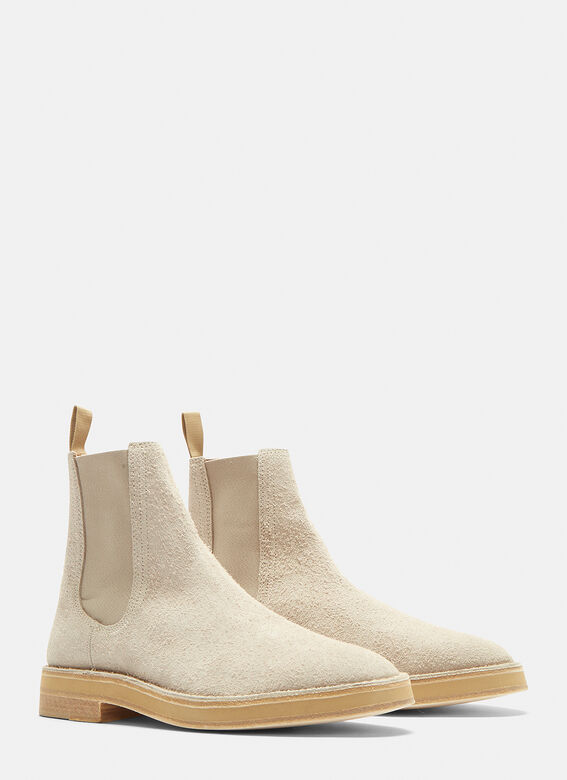 Yeezy Shaggy Suede Chelsea Boots