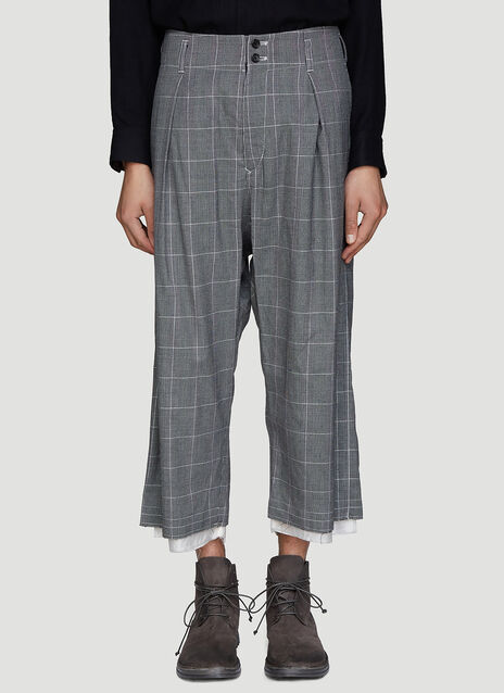 Sulvam Raw Check Pants