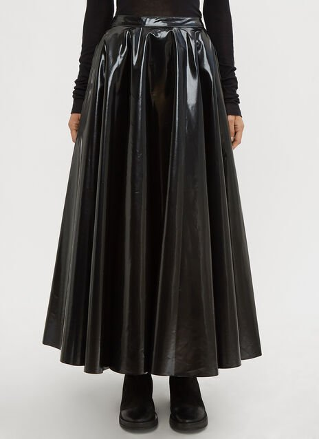 Yang Li Laminated Circle Skirt