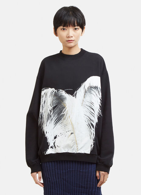 Maison Margiela Feather Print Sweatshirt