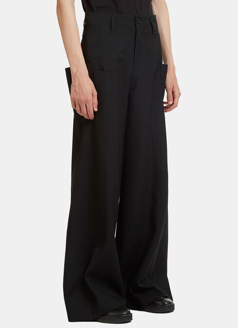 Oversized Overlapped Side Pocket Pants