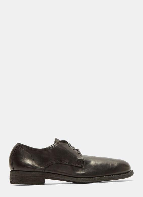 c3c52851c03 Guidi. Full Grain Lace-Up Leather Derby Shoes in Black