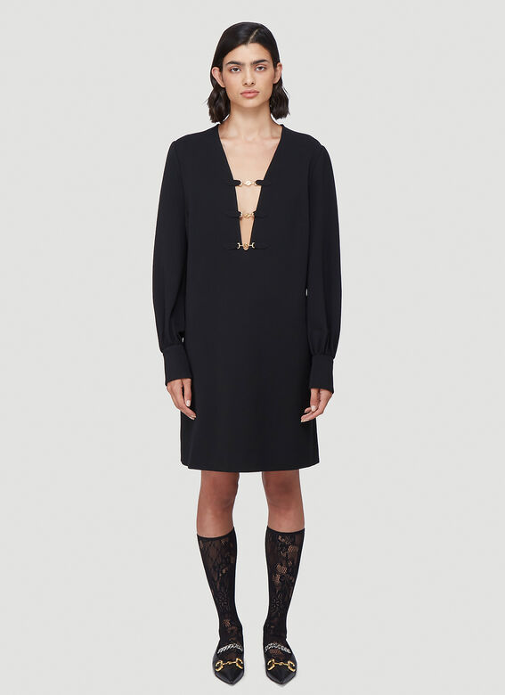 Gucci Deep V-Neck Dress 1