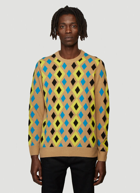 Pringle of Scotland ABSTRACT CAMEL PULLOVER 1