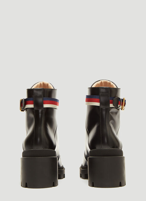 Gucci Trecking Heeled Ankle Boot 4