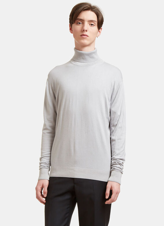Aiezen Ribbed Roll Neck Sweater 1