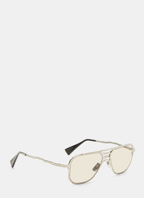 Kuboraum Mask H54 Chiselled Aviator Sunglasses