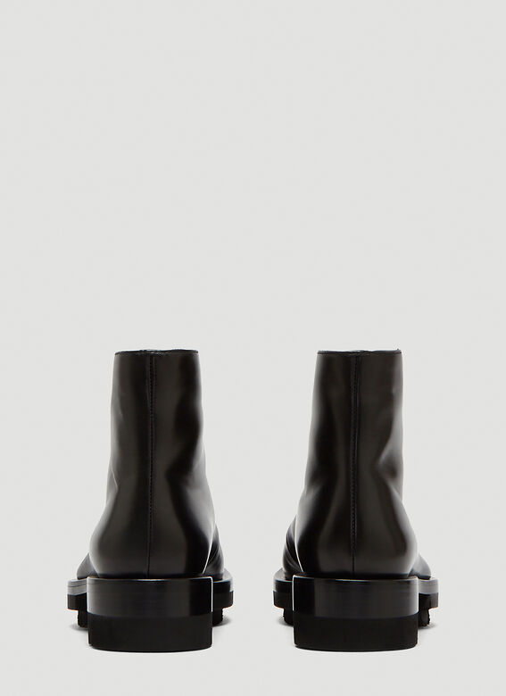 Jil Sander Leather Lace-Up Ankle Boots