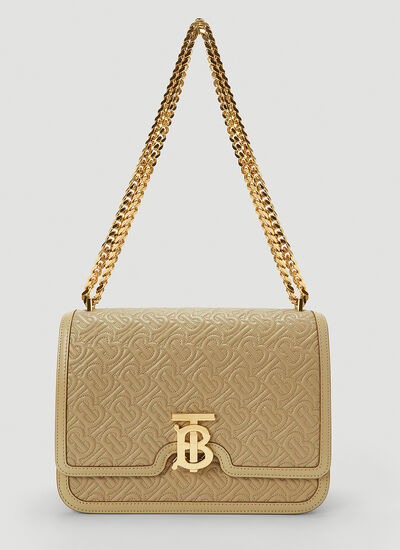 Burberry TB Quilted Medium Shoulder Bag