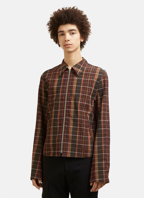 Wales Bonner Checked Wool Jacket