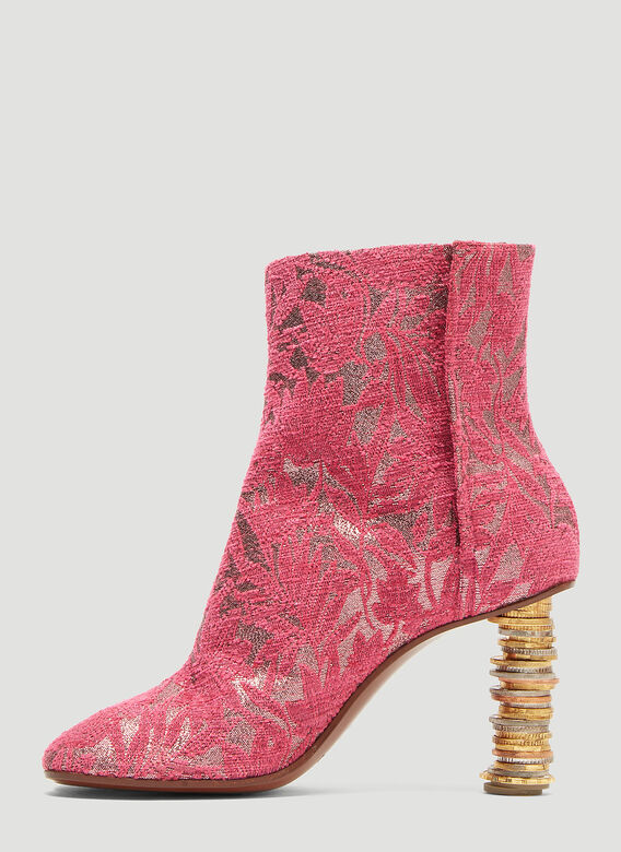 Vetements Geisha Split-Toe Coin-Heel Ankle Boots