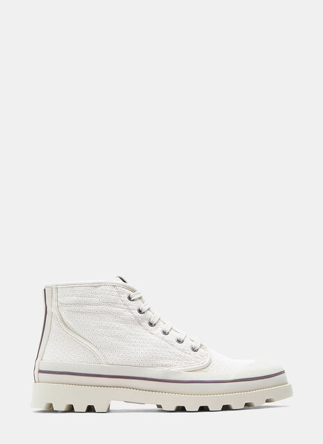 Perforated Canvas Rubber Capped Sneakers