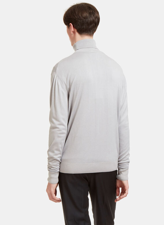 Aiezen Ribbed Roll Neck Sweater