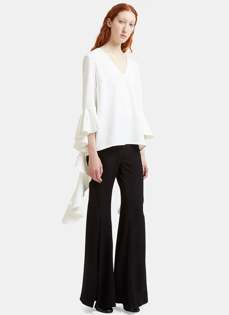 Ellery Ace Frill Sleeve V-Neck Top
