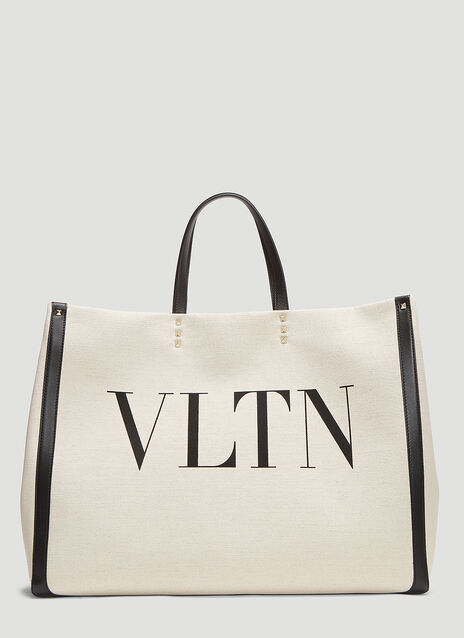 Valentino VLTN Canvas Tote Bag