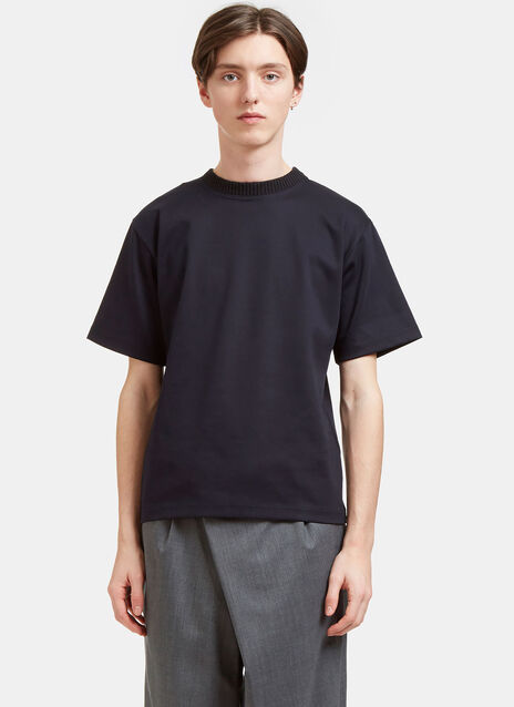 Heavyweight Ribbed Crew Neck T-Shirt