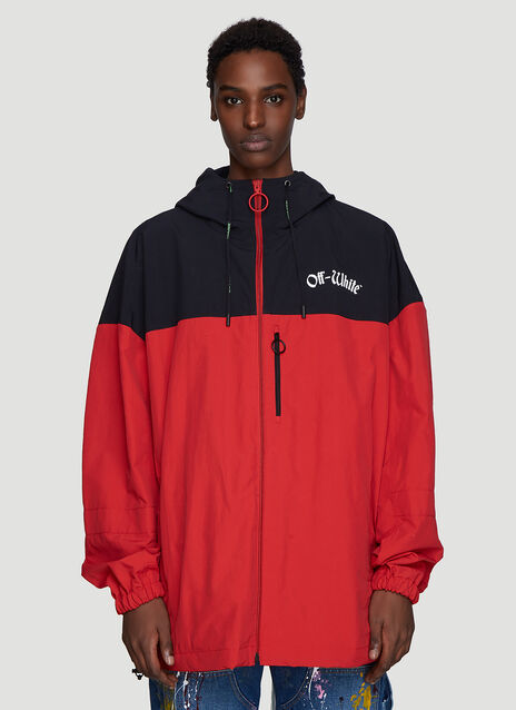 Off-White Hooded Windbreaker Jacket