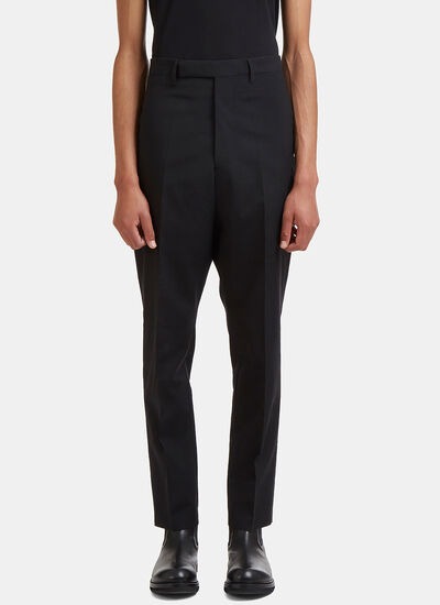 Rick Owens Astaires Straight Leg Rear Strap Pants