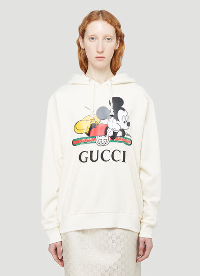 구찌 Gucci X Disney Hooded Sweatshirt in White