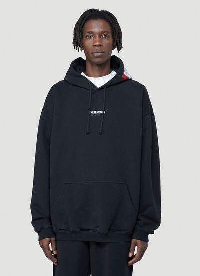Vetements Logo-Patch Hooded Sweatshirt