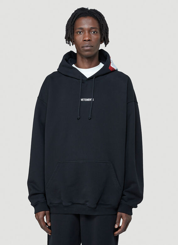 Vetements Logo-Patch Hooded Sweatshirt 1