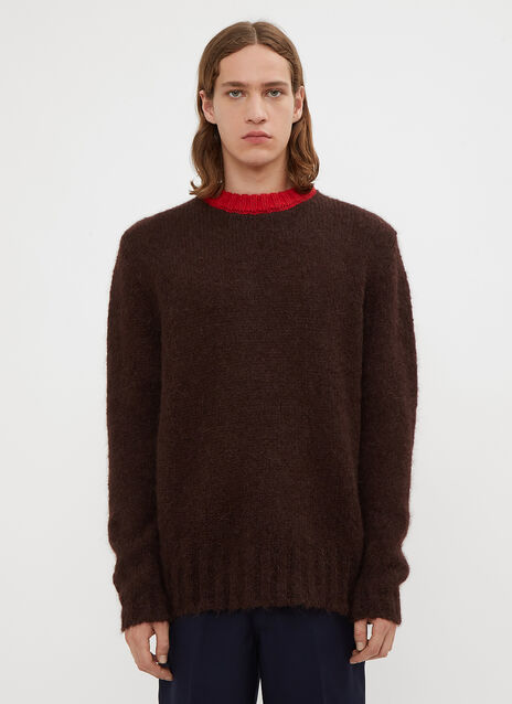 Marni Contrast Collar Knit Sweater