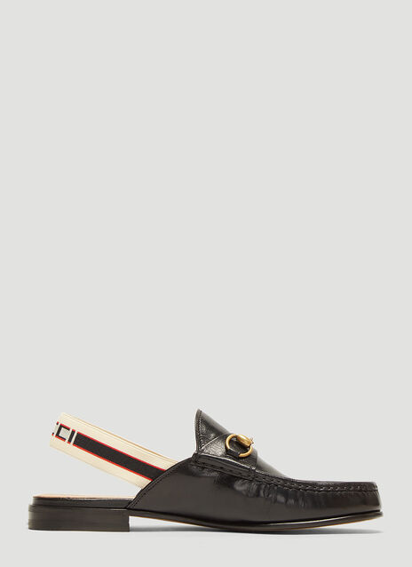 Gucci Logo Back Strap Loafers